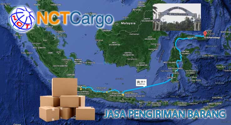 jasa pengiriman barang Jakarta Kotamobagu